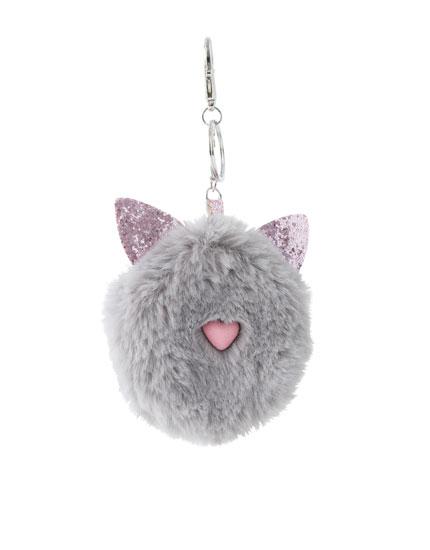 Portchei cu pisicuță de pluș