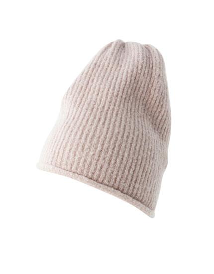 Fine knit hat