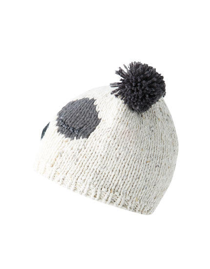 Panda bear knit hat