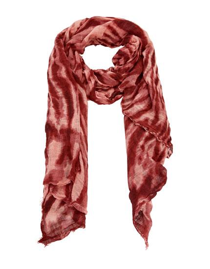 Lenço tie-dye índigo