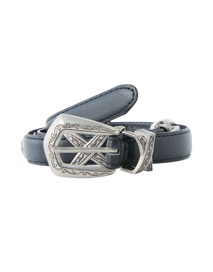 Metallic piece belt