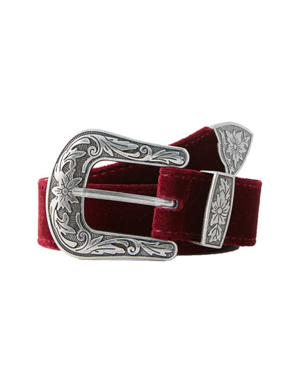 Velvet cowboy belt