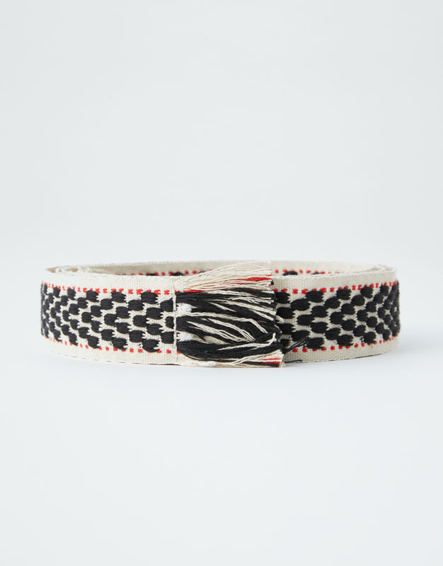 Jacquard Belt by Pull & Bear
