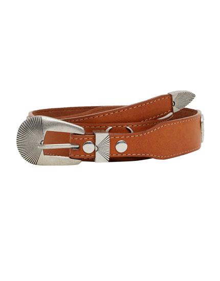 Cowboy-Gürtel mit Tiermotiven