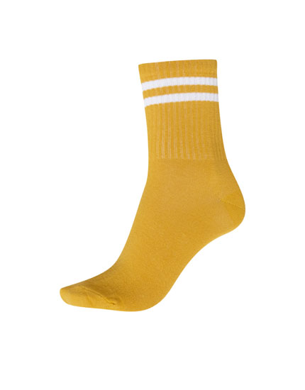 Chaussettes sport rayures