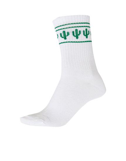 Calcetines deportivos franja cactus