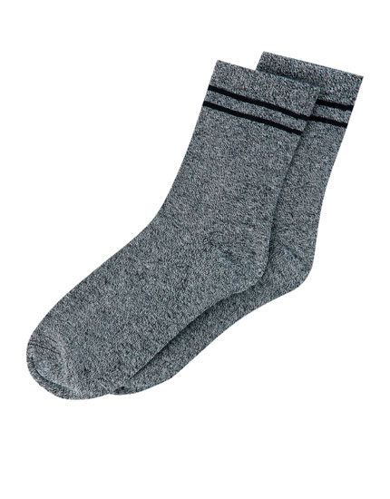 Pack of 2 pairs of flecked socks