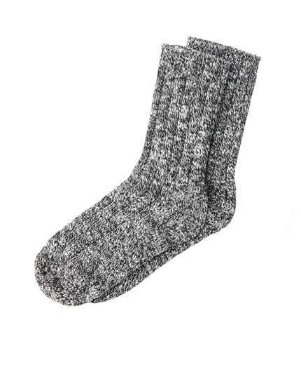 Flecked mountain socks