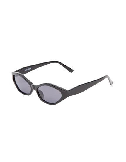 Geometric cat eye sunglasses
