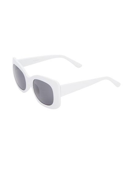Gafas de sol cuadradas blanco