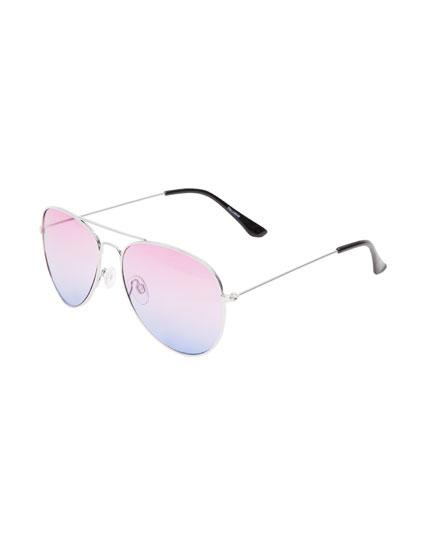 Gafas de sol aviador bicolor