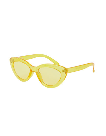 Gafas de sol cat eye transparentes