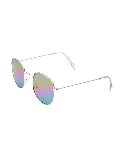 Sunglasses with rainbow lenses