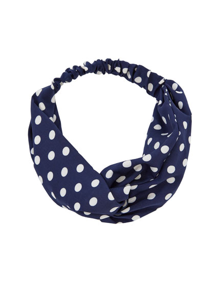White polka dot bandanna