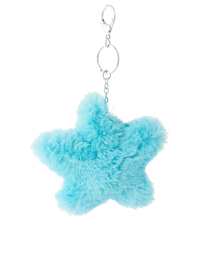 Plush star key ring