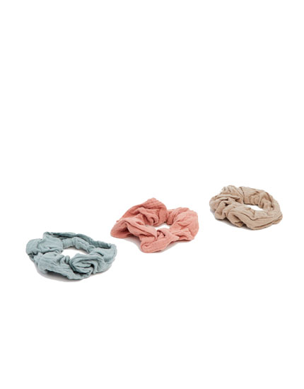 Pack of 3 pastel scrunchies