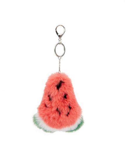 Plīša atslēgu piekariņš arbūza formā