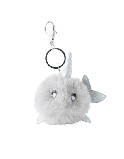 Plush whale key ring