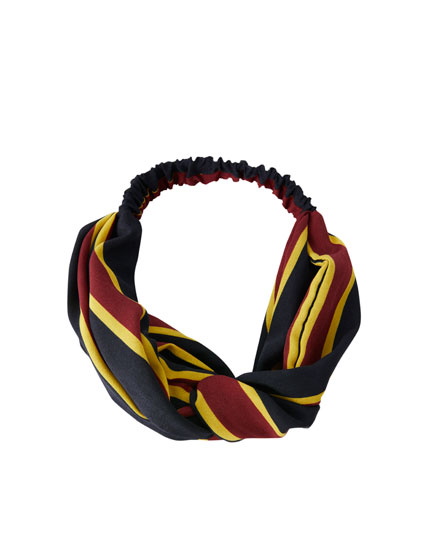 Stribet bandana