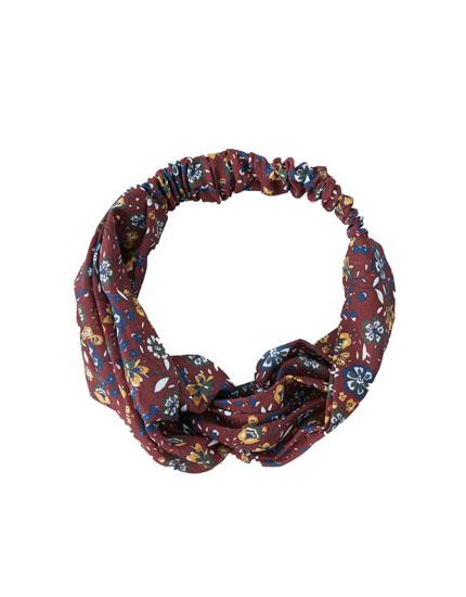 Mini floral print bandanna
