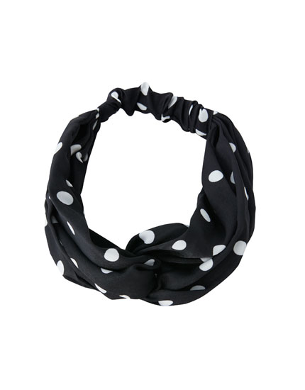 Polka-dot headband