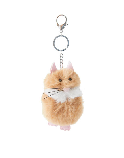 Fluffy hamster key ring
