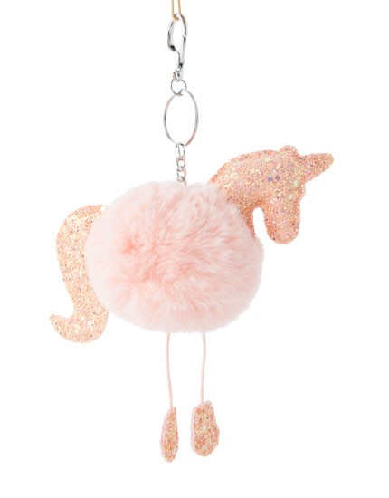 Glitter unicorn key ring