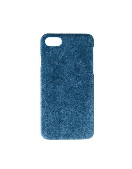Carcasa smartphone terciopelo