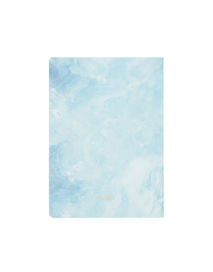 Marble-effect print notebook