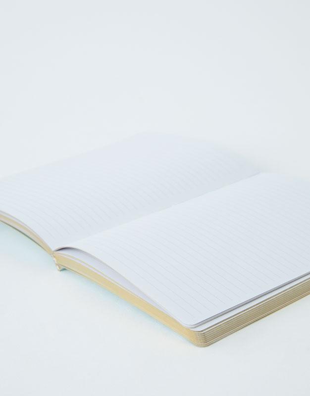 Pull & Bear - Notizbuch mit Print in Marmoroptik - 3