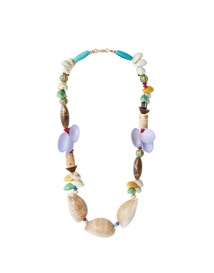 Multi-piece shell necklace