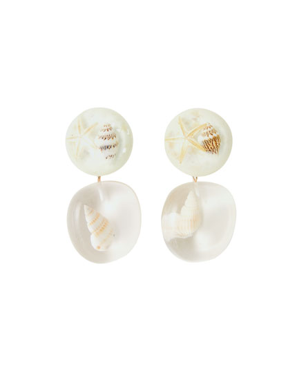 Resin shell earrings