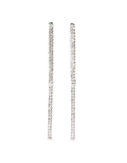 Diamanté strand earrings