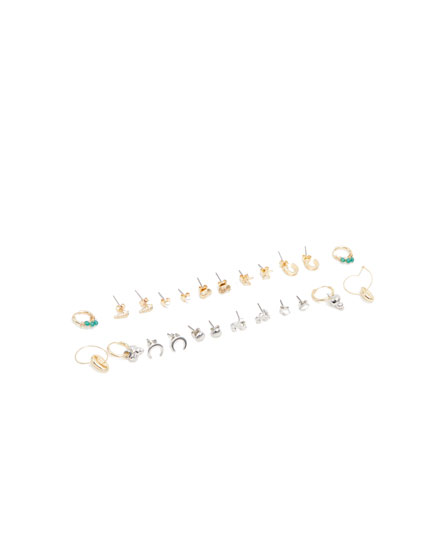 Pack of 12 seashell earrings