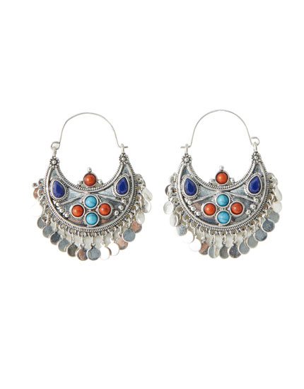 Metal boho earrings