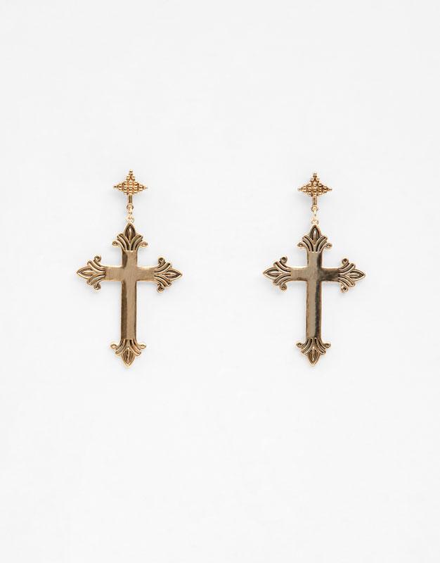 Oversized Cross Earrings by Pull & Bear