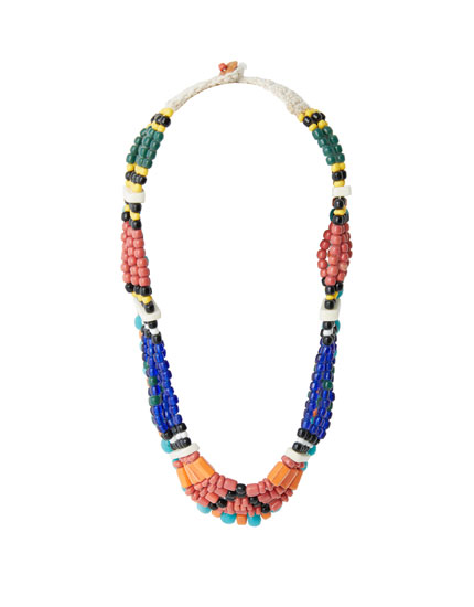 Multicoloured African necklace