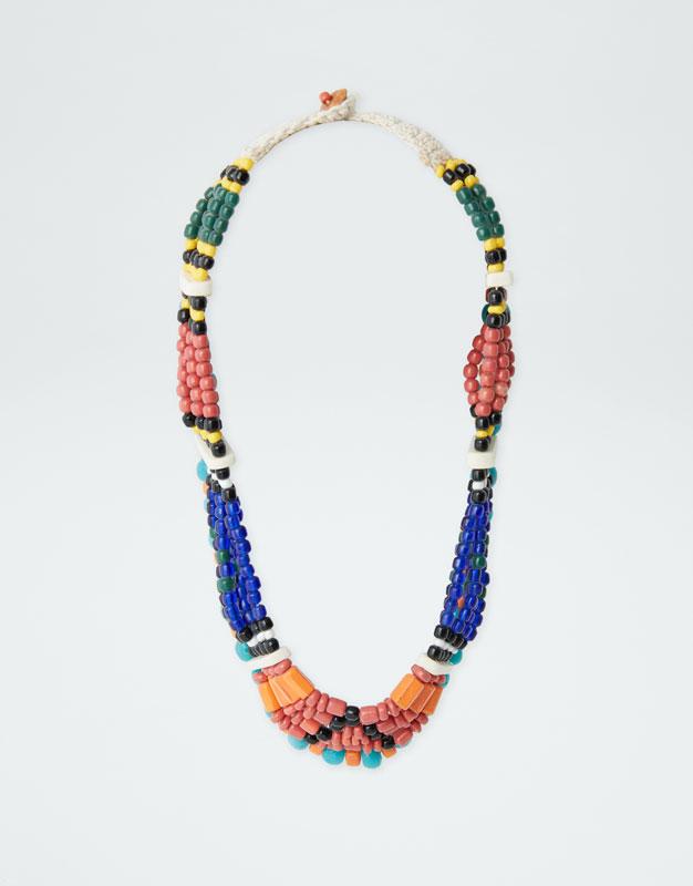 Colar Africano Multicolorido by Pull & Bear