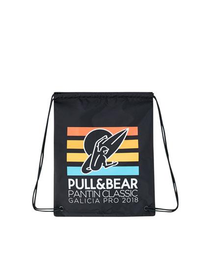 Pantín Classic logo fabric backpack