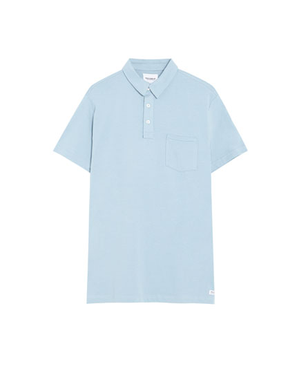 Basic knit polo shirt