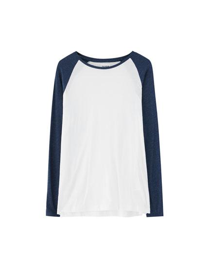 Tricou cu mânecă lungă raglan
