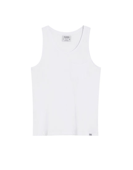 Vest top with pocket