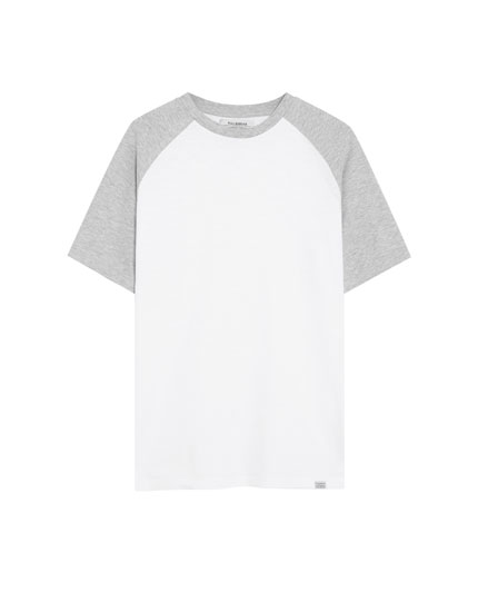 T-shirt Join Life flammé manches contrastantes