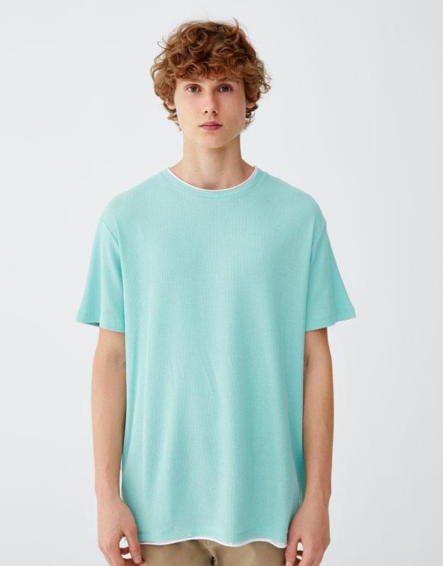 Pull & Bear - Camiseta con cuello en contraste - 5