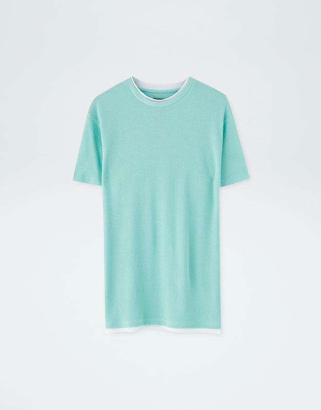 Pull & Bear - Camiseta con cuello en contraste - 6