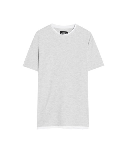 T-shirt with contrasting neckline