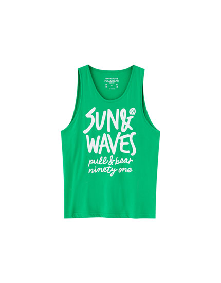 Camiseta tirantes print 'Sun & Waves'