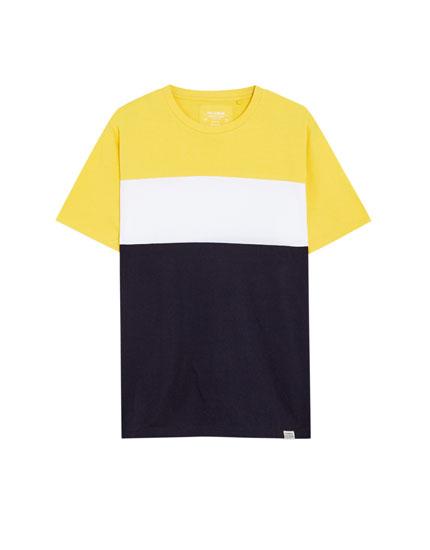 Camiseta algodón 3 paneles