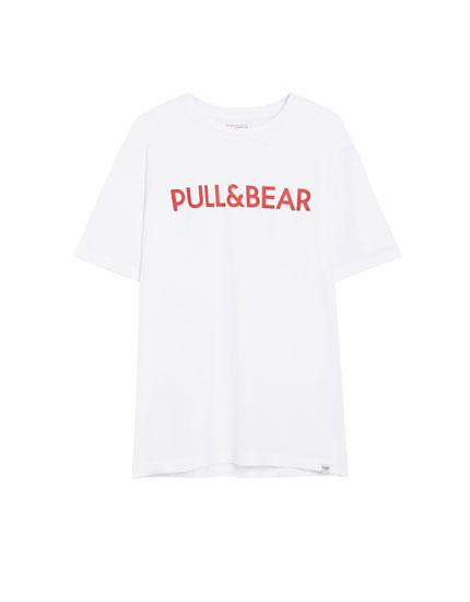 T-shirt met Pull&Bear-logo