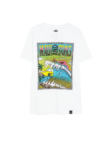 White Maui and Sons T-shirt